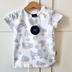 t-shirt drewniane klocki