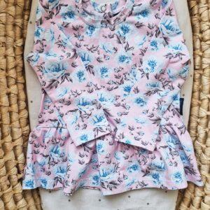 tunika błękitne kwiatuszki
